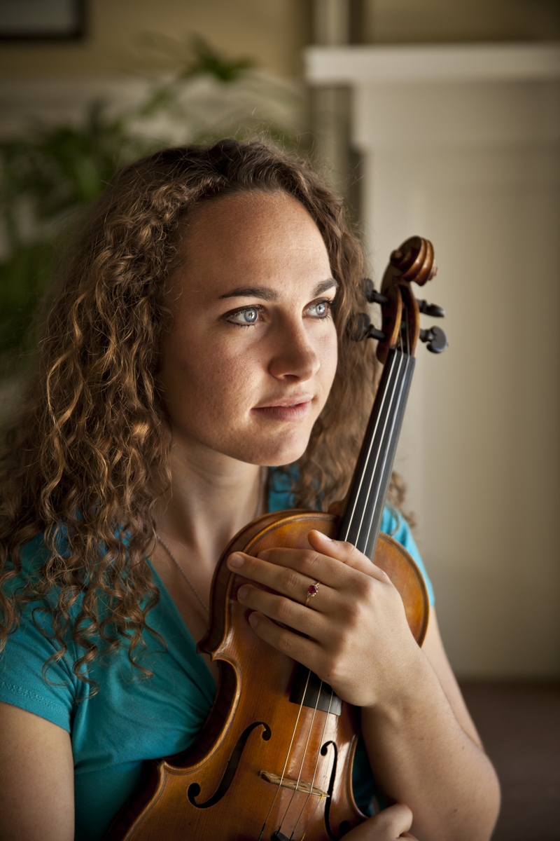Portait of a young female violinist